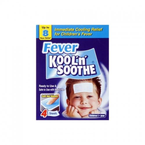Kool n Soothe Fever Soft Gel Sheets 4 Pack